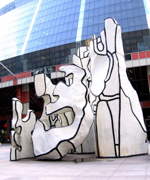 sculpture in front of the Thompson Center
